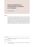 Desindustrialización y estancamiento económico en El Salvador