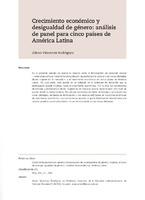 Crecimiento económico y desigualdad de género: análisis de panel para cinco países de América Latina