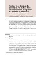 Análisis de la duración del desempleo y el destino de los desempleados en la República Bolivariana de Venezuela