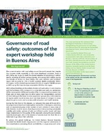 Governance of road safety: outcomes of the expert workshop held in Buenos Aires