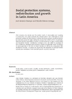 Social protection systems, redistribution and growth in Latin America
