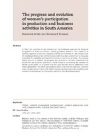 The progress and evolution of women's participation in production and business activities in South America