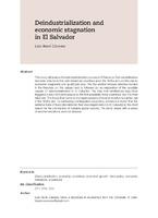 Deindustrialization and economic stagnation in El Salvador