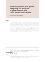Economic growth and gender inequality: an analysis of panel data for five Latin American countries