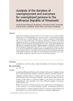 Analysis of the duration of unemployment and outcomes for unemployed persons in the Bolivarian Republic of Venezuela