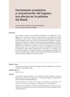 Crecimiento económico y concentración del ingreso: sus efectos en la pobreza del Brasil