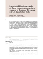 Impacto del Plan Garantizado de Salud con prima comunitaria única en la demanda del seguro privado de salud en Chile