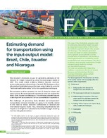 Estimating demand for transportation using the input-output model: Brazil, Chile, Ecuador and Nicaragua