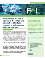 Reflections on the role of logistics in the sustainable exploitation of natural resources in Latin America and the Caribbean