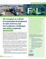 Air transport as a driver of sustainable development in Latin America and the Caribbean: challenges and policy proposals