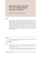 Currency carry trade and the cost of international reserves in Mexico