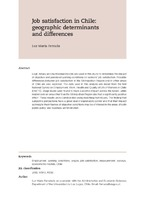 Job satisfaction in Chile: geographic determinants and differences
