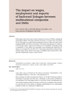 The impact on wages, employment and exports of backward linkages between multinational companies and SMEs