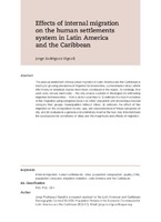 Effects of internal migration on the human settlements system in Latin America and the Caribbean