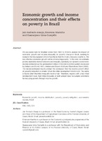 Economic growth and income concentration and their effects on poverty in Brazil