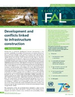 Development and conflicts linked to infrastructure construction