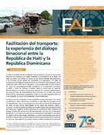 Facilitación del transporte: la experiencia del diálogo binacional entre la República de Haití y la República Dominicana