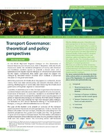 Transport Governance: theoretical and policy perspectives