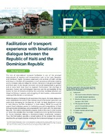 Facilitation of transport: experience with binational dialogue between the Republic of Haiti and the Dominican Republic