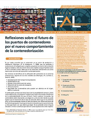 Reflexiones sobre el futuro de los puertos de contenedores por el nuevo comportamiento de la contenedorización