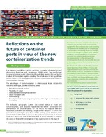 Reflections on the future of container ports in view of the new containerization trends