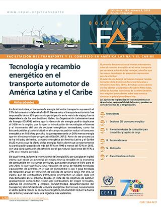 Tecnología y recambio energético en el transporte automotor de America Latina y el Caribe