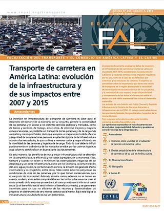 Transporte de carretera en América Latina: evolución de la infraestructura y de sus impactos entre 2007 y 2015