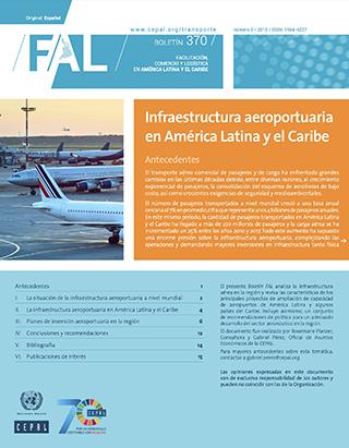 Infraestructura aeroportuaria en América Latina y el Caribe