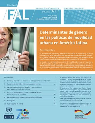 Determinantes de género en las políticas de movilidad urbana en América Latina