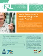 Gender determinants in urban mobility policies in Latin America