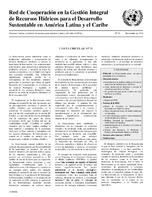 Carta Circular de la Red de Cooperación en la Gestión Integral de Recursos Hídricos para el Desarrollo Sustentable en América Latina y el Caribe N° 51