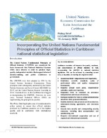 Policy Brief: Incorporating the United Nations Fundamental Principles of Official Statistics in Caribbean national statistical legislation