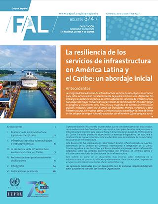 La resiliencia de los servicios de infraestructura en América Latina y el Caribe: un abordaje inicial