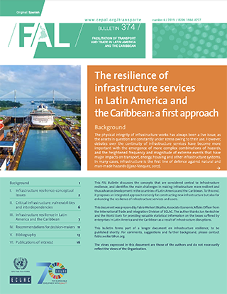The resilience of infrastructure services in Latin America and the Caribbean: A first approach