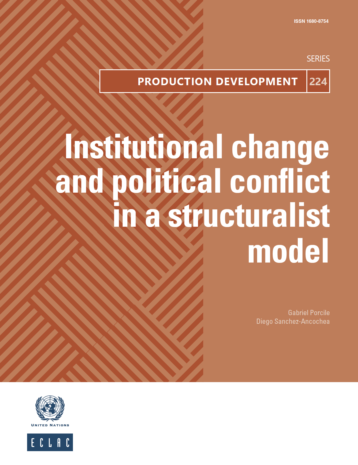 Institutional change and political conflict in a structuralist model
