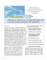 Policy Brief: Planning for resilience: an integrated approach to tackle climate change in the Caribbean