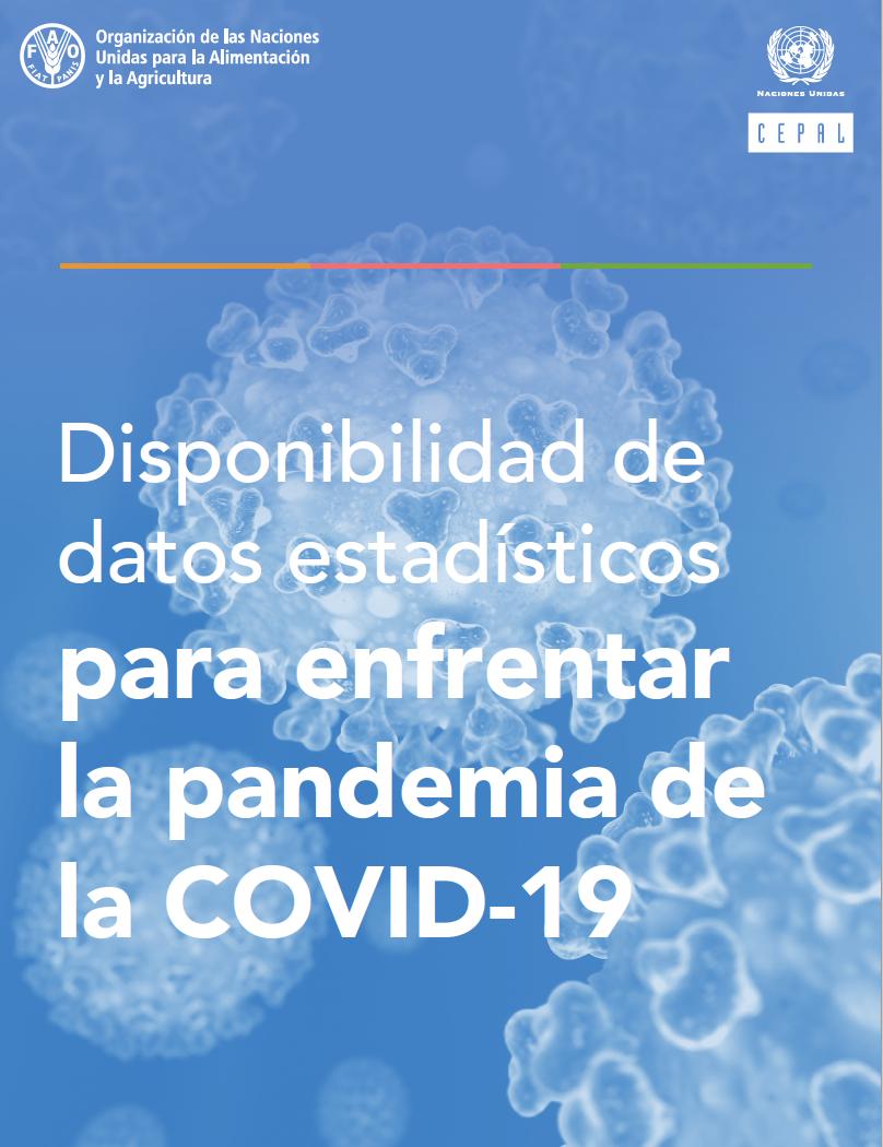 Disponibilidad de datos estadísticos para enfrentar la pandemia de la COVID-19