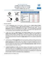 Boletín estadístico de comercio exterior de bienes en América Latina y el Caribe. Cuarto trimestre 2019 (Nro. 38)