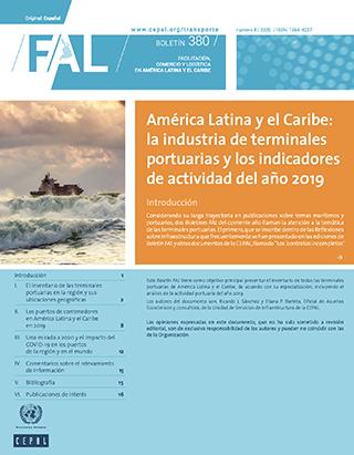 América Latina y el Caribe: la industria de terminales portuarias y los indicadores de actividad del año 2019