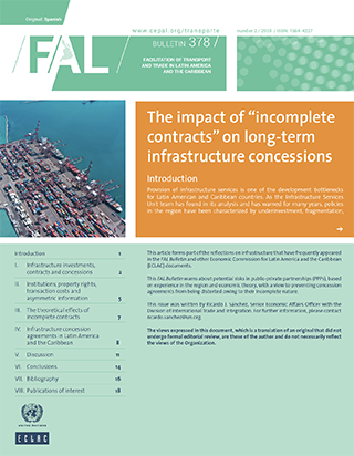 """The impact of """"incomplete contracts"""" on long-term infrastructure concessions"""