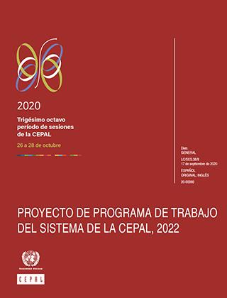 Proyecto de programa de trabajo del sistema de la CEPAL, 2022