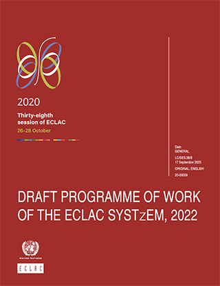 Draft programme of work of the ECLAC system, 2022
