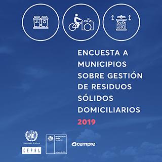 Encuesta a municipios sobre gestión de residuos sólidos domiciliarios 2019