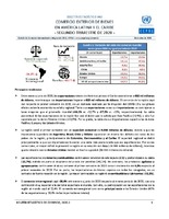 Boletín estadístico de comercio exterior de bienes en América Latina y el Caribe. Segundo Trimestre 2020 (Nro. 40)
