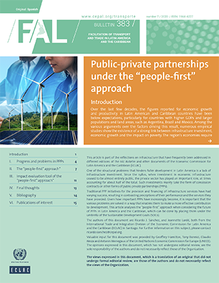 "Public-private partnerships under the ""people-first"" approach"
