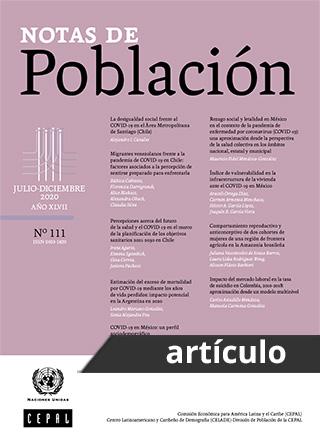 COVID-19 en México: un perfil sociodemográfico