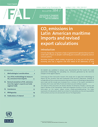 CO2 emissions in Latin American maritime imports and revised export calculations