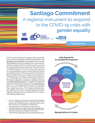 Santiago Commitment: A regional instrument to respond to the COVID-19 crisis with gender equality