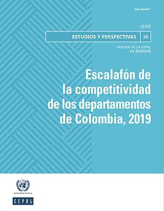 Escalafón de la competitividad de los departamentos de Colombia, 2019