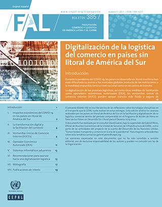 Digitalización de la logística del comercio en países sin litoral de América del Sur